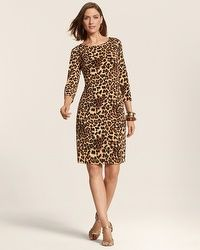 So Slimming By Chico's Animal Sabrina Dress