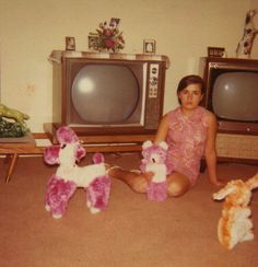 For her birthday, Miss Minnie had asked for, yet, a third television to complete her collection. Instead, she received a third stuffed animal - not a happy camper.