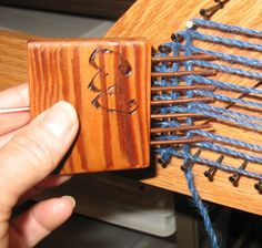 Triangle loom tool. Tapestry weaving tool. Now with a YouTube video on how to use. See link below.