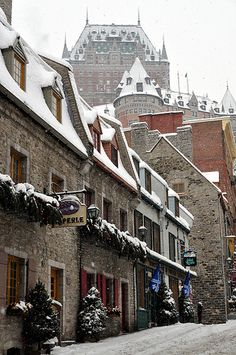 Christmas in Petit Champlain Street, Quebec City, Canada Places Around The World, Oh The Places You'll Go, Places To Travel, Places To Visit, Around The Worlds, Travel Destinations, Ottawa, Quebec Montreal, Quebec City