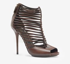 Sexy Gucci Dark Brown Sandals