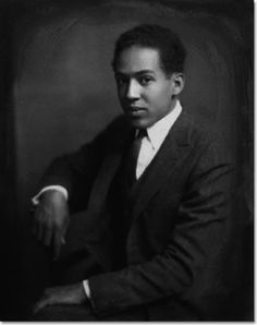 Langston Hughes was born 112 years ago today in Joplin, Missouri. This photo was taken by Nickolas Muray, a Hungarian-American photographer who was also an Olympic fencer, in 1923 when Mr. Hughes was about 21 years old.