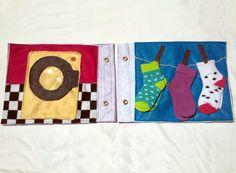 Washing Socks Quiet Book Pages  Custom Felt Book by MyBuddyBling