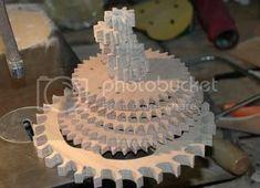 Wooden Gear Clock, Wooden Gears, Clocks, Woodworking, Crafts, Manualidades, Watches, Handmade Crafts