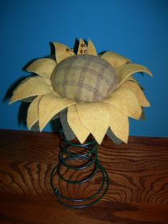 """A Legacy of Stitches: A """"springy"""" Sunflower.........."""