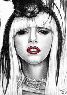 Lady Gaga - Commission by ~DendaReloaded on deviantART