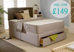 Divan Beds With Mattresses From £149.