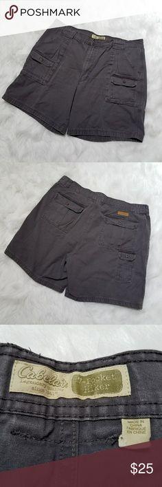 Cabela's Men's cargo hiking shorts Men's cabela's grey cargo 7 pocket hiking shorts, 100% cotton, size 40 waist, Big and tall Cabela's Shorts Cargo