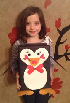 Penguin valentines box