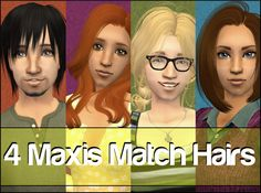 Lots of Maxis match hairs on this site