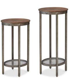 Set of 2 Sheridan Pedestal Tables, Direct Ship | macys.com