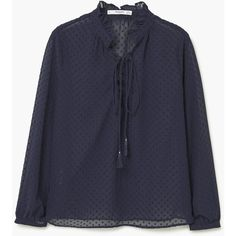 Plumeti Blouse (125 ILS) ❤ liked on Polyvore featuring tops, blouses, long sleeve ruffle blouse, long sleeve blouse, ruffle top, sheer long sleeve blouse and see through blouse