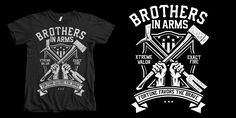 """Brothers In Arms"" t-shirt design by roach"