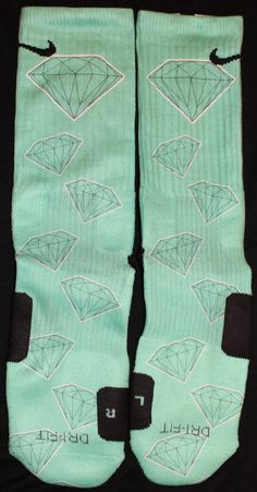 Diamonds are Forever Tiffany Nike SB Dunk by DopeSocksAndStuff, $32.99
