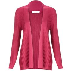 Windsmoor Fan Ribbed Cardigan, Dark Pink ($34) ❤ liked on Polyvore featuring tops, cardigans, sweaters, jackets, shirts, longline cardigan, waterfall cardigan, short-sleeve cardigan, rib shirt and cardigan shirt