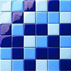 12.5 in. x 12.5 in. Capri Blu Mix Glossy Glass Tile-AR.0C91 at The Home Depot