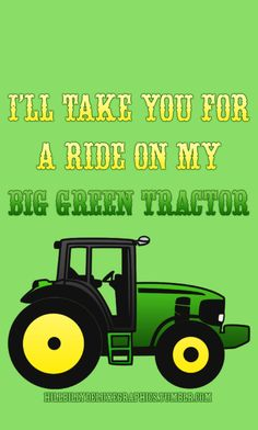 Take you on a ride on my BIG RED Tractor   ~Red Tractors