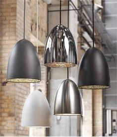 Large Classic Bullet Pendant - inc suspension