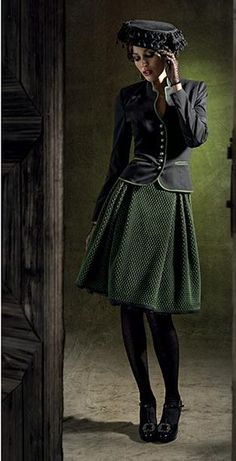 Amazing Combination with Trachtenrock & co. Great Dirndl style by Mothwurf
