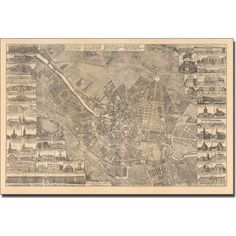 Trademark Art 'Map of Berlin, 1773' Canvas Art by Schleun, Size: 22 x 32, Multicolor