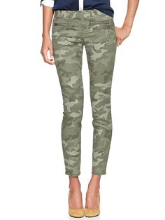 I love my Gap 1969 Camo Front Zip Always Skinny Jeans - green camo