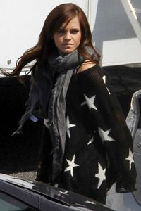 Wildfox White Label Seeing Stars Lennon Sweater in Black on Emma Watson