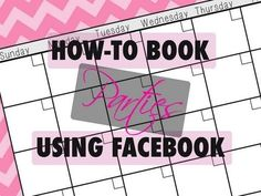 Watch this video to learn How-To Book Parties using Facebook. Http://www.sheenarush.com