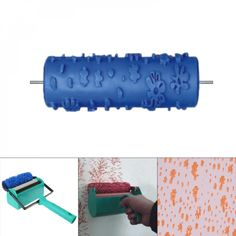 Embossed Paint Roller Sleeve Wall Texture Stencil, Best shopping experience, new products added everyday. For best shopping experience visit us, trainedtools.com Emboss Painting, Painting Tools, Wall Texture Design, Wall Design, Wall Patterns, Painting Patterns, Patterned Paint Rollers, Paint Colors For Living Room, Painted Paper