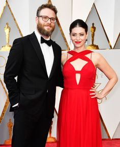 Seth Rogen and Lauren Miller | 10 Of The Most In-Love Couples On The 2017 Oscars Red Carpet