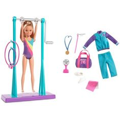 Barbie Team Stacie Doll Gymnastics Playset with Accessories – Best Baby And Baby Toys Barbie Doll Set, Baby Barbie, Barbie Sets, Barbie Doll House, Barbie Dream, Ken Doll, Barbie Stacie Doll, Barbie Chelsea Doll, Musik Player