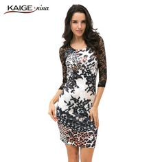 """Leopard Lace"" Women Casual Mini Dress - FREE SHIPPING"