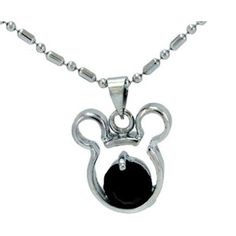 Mickey Mouse Rhinestone and Silver Necklace only $1.99 Shipped