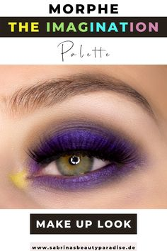 Morphe x Maddie Ziegler The Imagination Palette ultraviolettes Augen Make-up. Augen Make-up Inspiration mit der neuen Morphe Eyeshaow Palette. Lila Augen Make-up Look für grüne Augen.