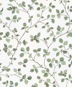 Hassel Green / White wallpaper by Sandberg