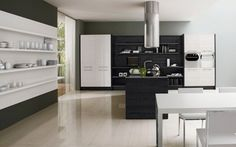 Contemporary Black And White Kitchen – Asia By Futura Cucine | DigsDigs