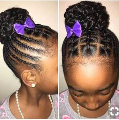 Very pretty . 60 Braids for Kids: 60 Braid Styles for Girls - Part 39 Baby Girl Hairstyles. Back to school hairstyles black hair, natural hair, Lil Girl Hairstyles, Black Kids Hairstyles, Natural Hairstyles For Kids, Kids Braided Hairstyles, My Hairstyle, Black Hairstyle, Hairstyle Ideas, Formal Hairstyles, Braided Updo