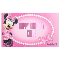 Shop Minnie Mouse Birthday Banner created by MickeyAndFriends. Personalize it with photos & text or purchase as is! Minnie Mouse 1st Birthday, Disney Birthday, Mickey Minnie Mouse, Minnie Mouse Theme Party, Pink Minnie, Disney Theme, Disney Mickey, Walt Disney, First Birthday Parties