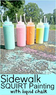 Summer Fun - Chalk Rockets ~ Growing A Jeweled Rose