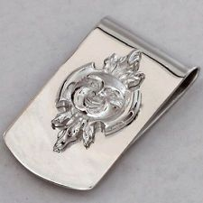 Money Clip Sterling Silver Sun Fire company Reed & Barton numbered Lot 825