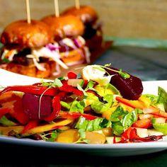 Jerk Sliders Mango Salad...  #melbournefood #melbournerestaurants #jamaicanfood #prahran #chapelstreet #food #goodfood by bicklecanteen
