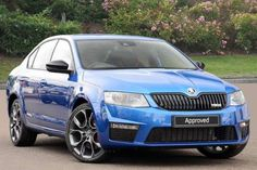 Used 2015 (15 reg) Race Blue Metallic Skoda Octavia 2.0 TSI vRS 5dr for sale on RAC Cars