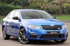 Used 2015 (15 reg) Race Blue Metallic Skoda Octavia 2.0 TSI vRS 5dr for sale on RAC Cars