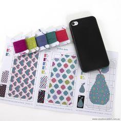 cross stich i phone cases | Iphone Case Kit Black | Voodoo Rabbit Fabric, East Brisbane Australia