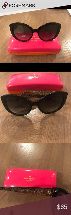 Kate Spade Sherrie cat eye 55m sunglasses Black, cat eye, 55m, barely worn, case, no scratches kate spade Accessories Sunglasses