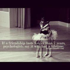 心理学者が言うには 7年以上続いた友情は 一生ものなんだって。