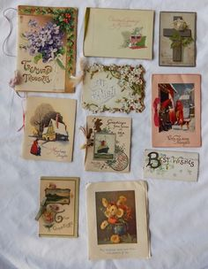 I'm all about finding Vintage Christmas Cards on EBay rather than buying new ones this year. The used ones are the best cuz you can see all the sweet old fashioned signatures, with names like Hortense and Myrtle and Maynard. I love them. Some I've found are from pre-1920 even!