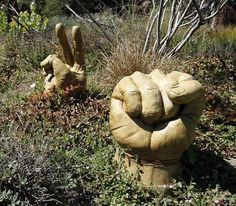 Tucked into Sierra Azul's garden plantings are dozens of durable works by local sculptors. Photo: Sean Culligan, The Chronicle