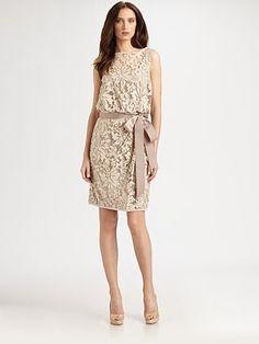 Tadashi Shoji Blouson Lace Dress