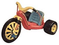 Ahhh memories! I remember that DARN clickity-clickity of the Big Wheel as a teenager trying to sleep in on a Saturday morning in the mid 70s,but the neighborhood kiddies all had one & THIS was my alarm clock around 8 in the morning...bless their lil hearts!!! ;-)
