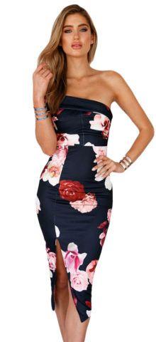 $27.99 Hualong Black Off The Shoulder Floral Midi Bodycon Dress #hualongdresses #beach #girl #monday #hld #women #makeup #beautiful #happy #girl #like #pretty #woman #love #tap #followme #lips #fabulous #beauty #natural #model #follow #mood #good #happiness #fashion #style #newyork #florida #stylish #sun